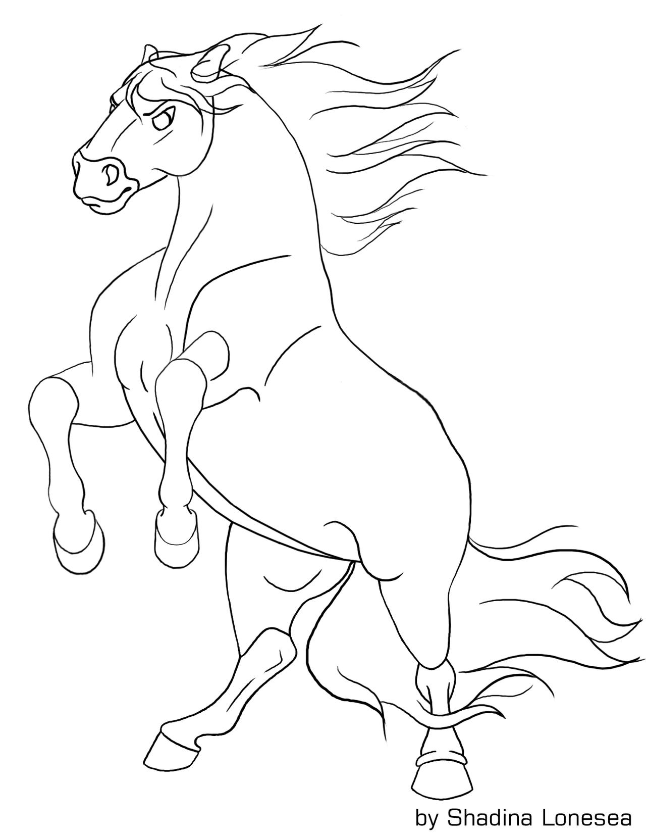 Rearing horse lineart by ShadinaLonesea on DeviantArt