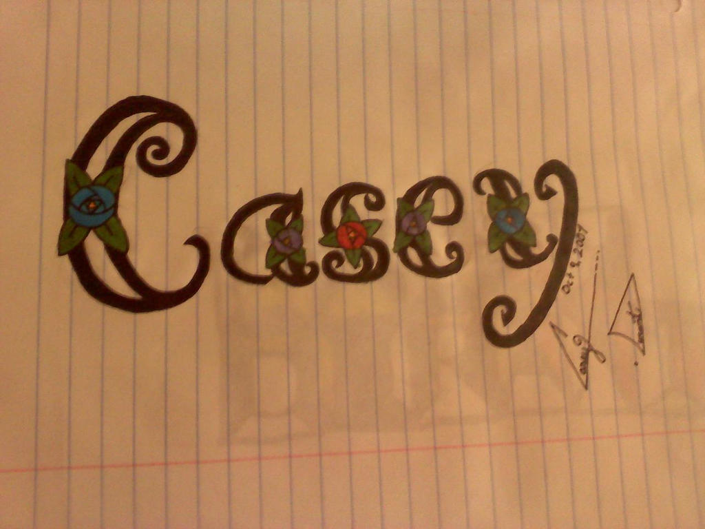 Casey Name Drawing by LittleRed333 on DeviantArt