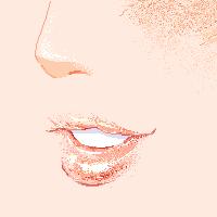 Pink lips by Rain-sonata