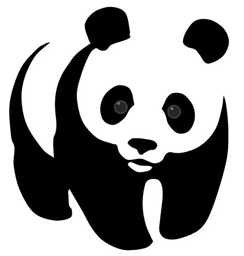 wwf panda vector by clifordshelton on deviantart rh clifordshelton deviantart com panda vector illustrator panda vector sequence