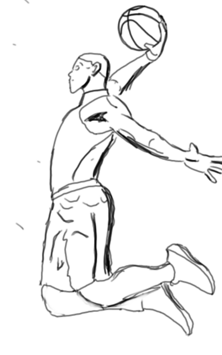 Sketch Basketball / Baloncesto By Linedrawsai On DeviantArt