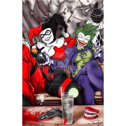 Joker and Harley swapped  by JenXComics28