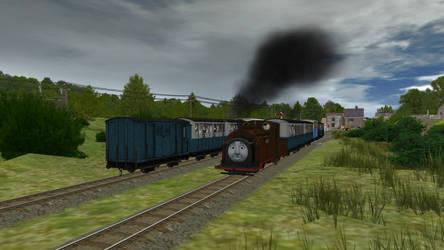 Narrow-Gauge Trains Pass