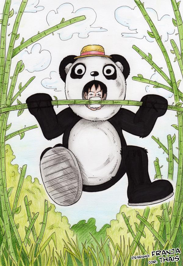 Luffy Panda by thaiskobato
