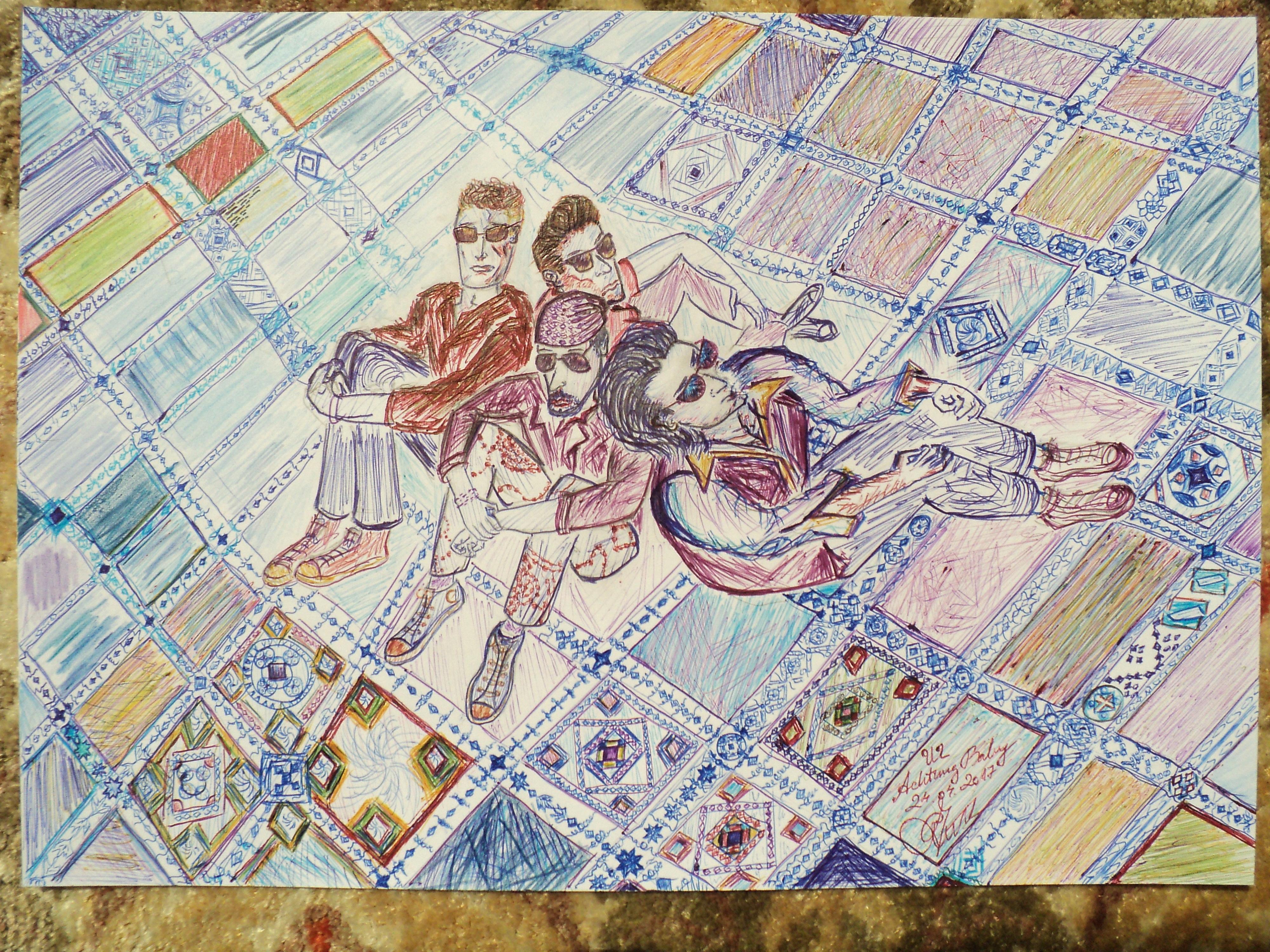 u2 achtung baby fan art by rainygreentrabant on deviantart