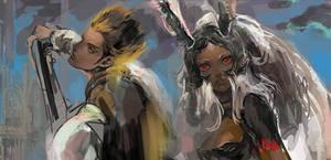 Final Fantasy 12-Balthier and Fran