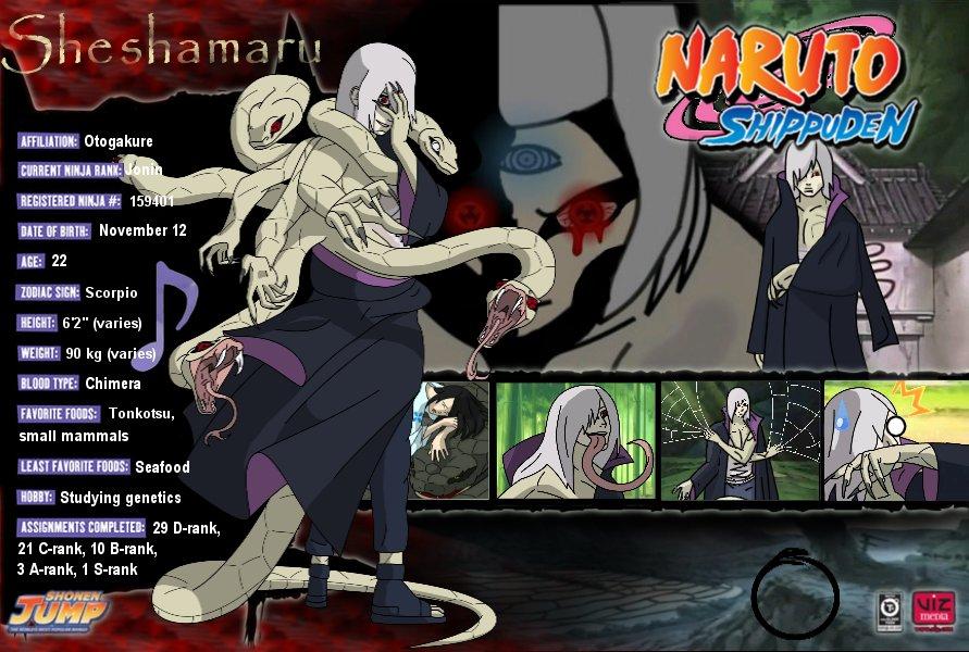 Sheshamaru Profile Sheet V1 By JediSwordZAM