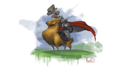 Elk Knight by McFjury