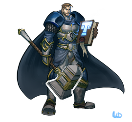 Commission - Young Uther the lightbringer