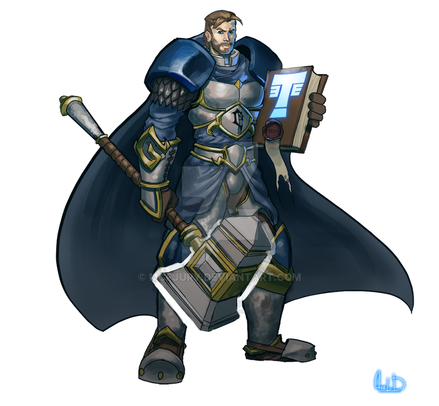 Commission - Young Uther the lightbringer by McFjury
