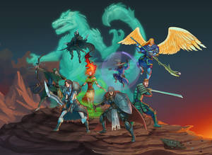 Commission - Dungeon and Dragons group