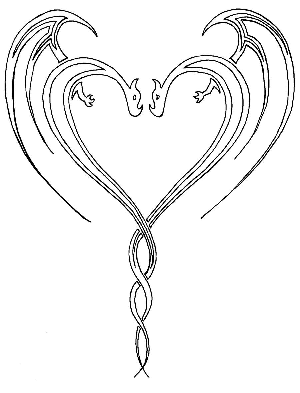 Double Dragon Heart by Coxy-the-RedBeard on DeviantArt