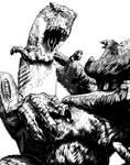 King Kong vs. T-Rex!