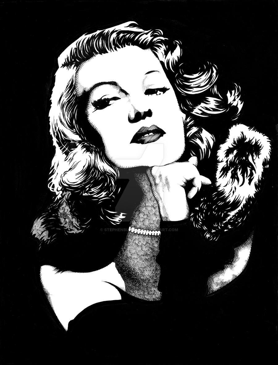 Rita Hayworth by stephenburger