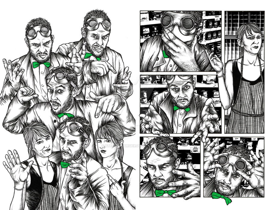 TALK! Promo 2-page spread by stephenburger