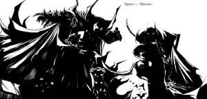 spawn and batman by gilbert86II