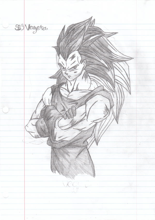 how to draw vegeta super saiyan god step by step