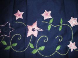 Yuna Skirt embroidery WIP by bananapanik