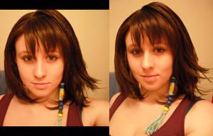 Yuna - wig and makeup test by bananapanik