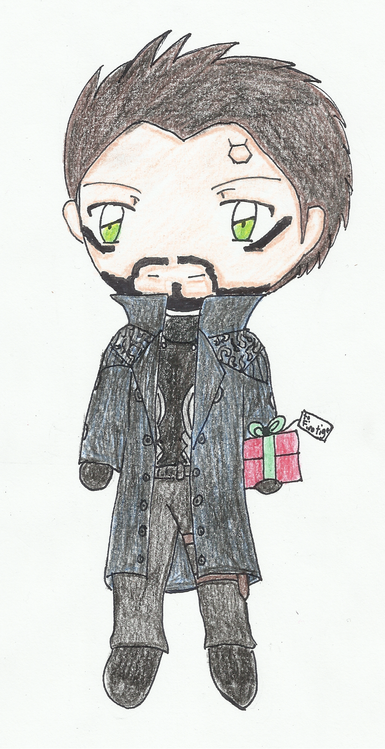 Adam Jensen has a gift for you by SapphireAngelBunny