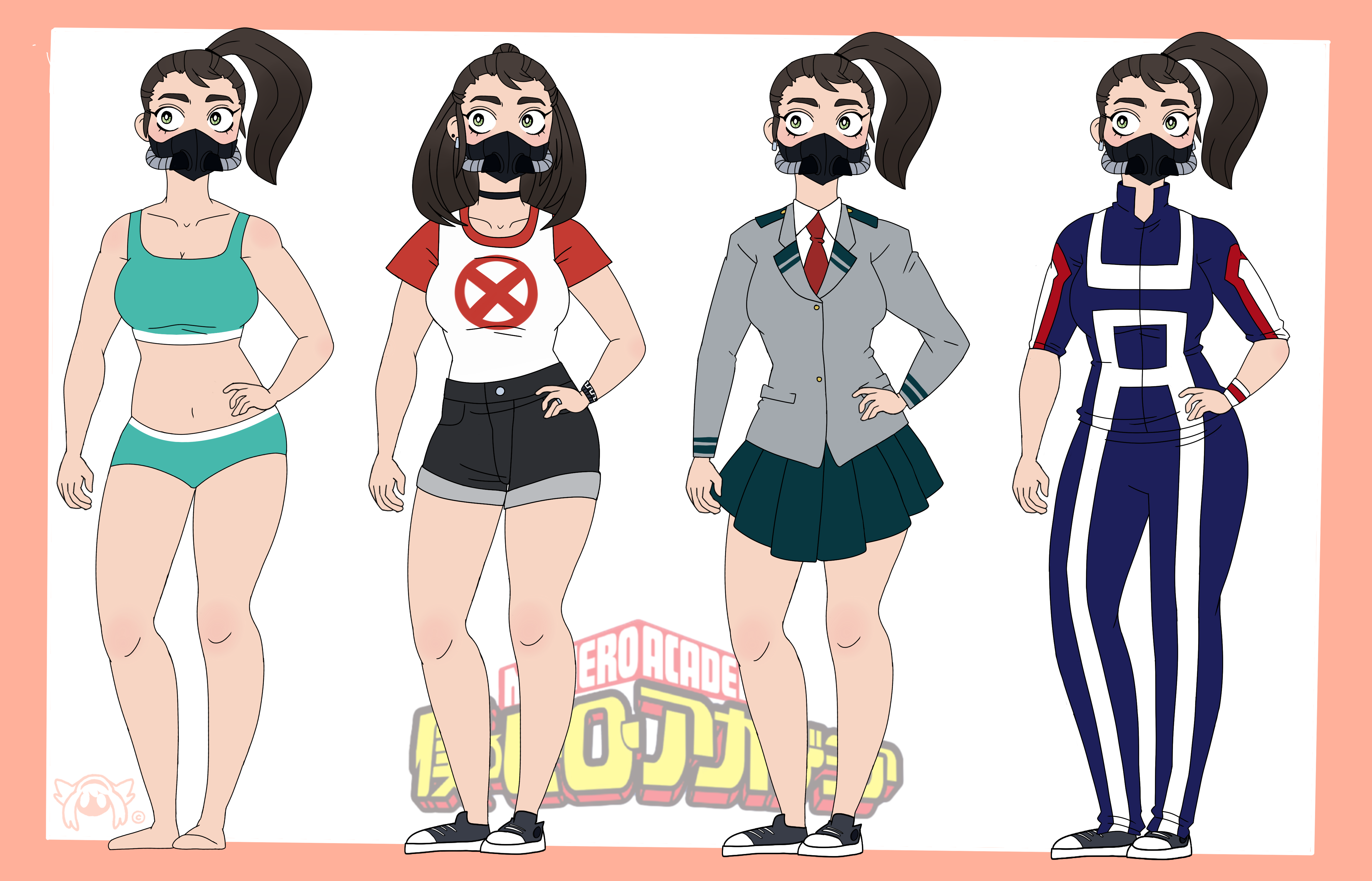 My Hero Academia Oc Tabby Outfits By Labotor11 On Deviantart