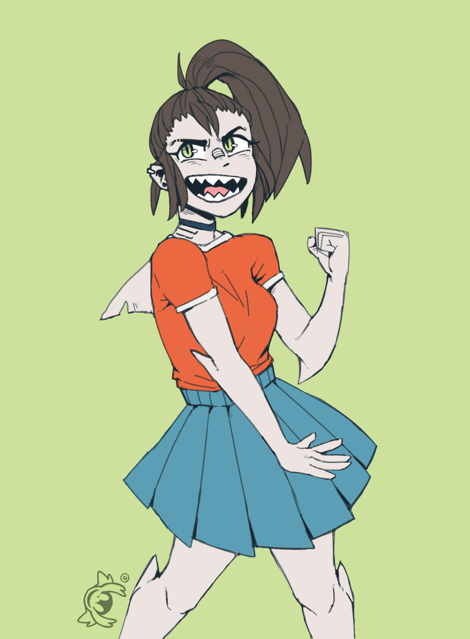Anime Character Quirks : My hero academia oc tabby shark quirk by patchedtabby