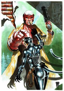 Hellboy et Catwoman