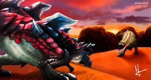 Glavenus vs Deviljho Turf War by NNN078