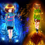 Undertale : Frisk and Chara + speedpainting video