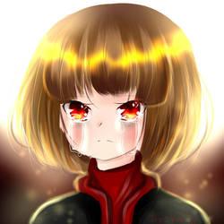 Fell Chara doodle + mini speedpaint by YuriHikaru