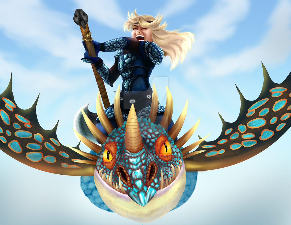 Astrid and Stormfly by Ruthsic