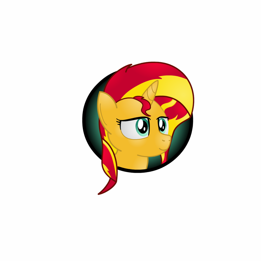 Sunset Shimmer Icon by Lakword