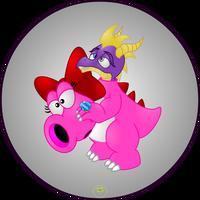 Spyro as Birdo by Lakword