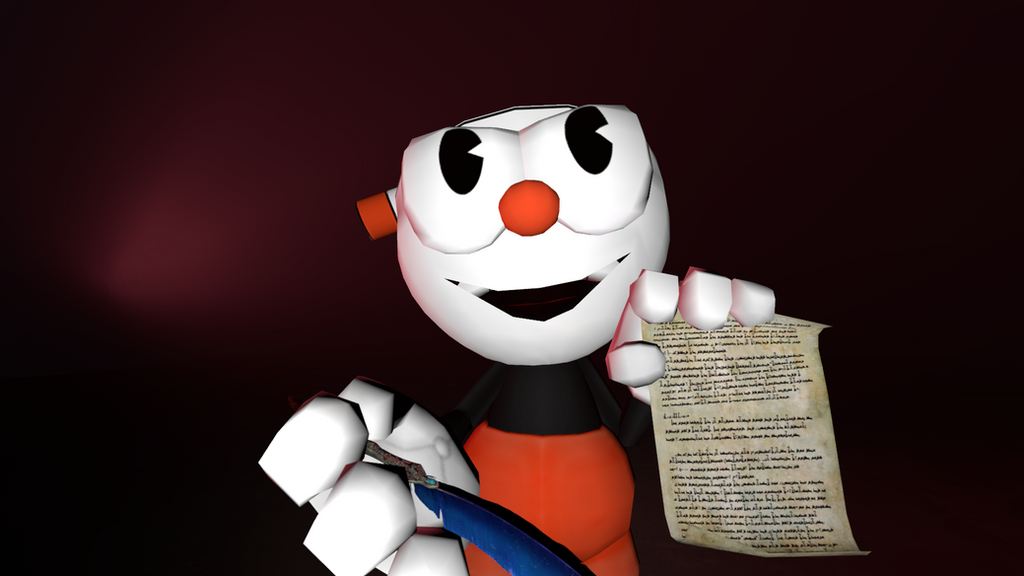 Please Sign Your Soul Contract! (Cuphead) by Clawort-Animations on ...