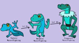Tadrate,Morphlex+Froggarate (Fakemon Commission)