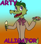Arty Alligator (Willy's Wonderland Fanart)