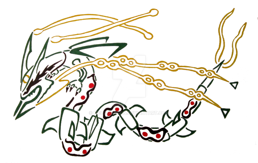 Mega rayquaza by mecadragon on deviantart for Rayquaza coloring pages