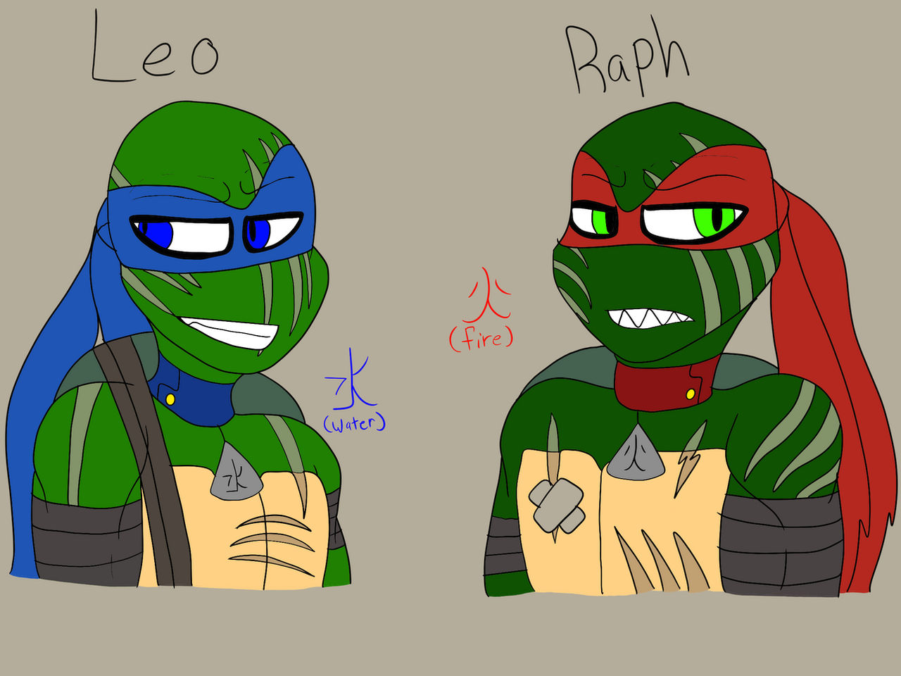 Tmnt2012 Leo And Raph By Artisticmadidel On Deviantart