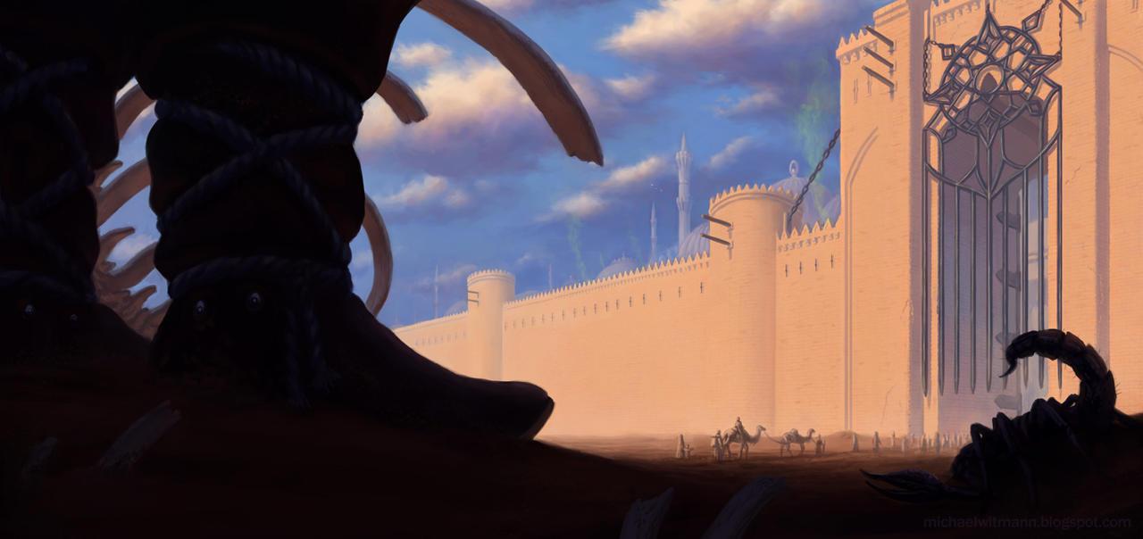 Rising Sun Gate of Jarah by 2tall4yall