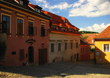 Sighisoara, cloudy with a hint of medieval by anna-unforgettable