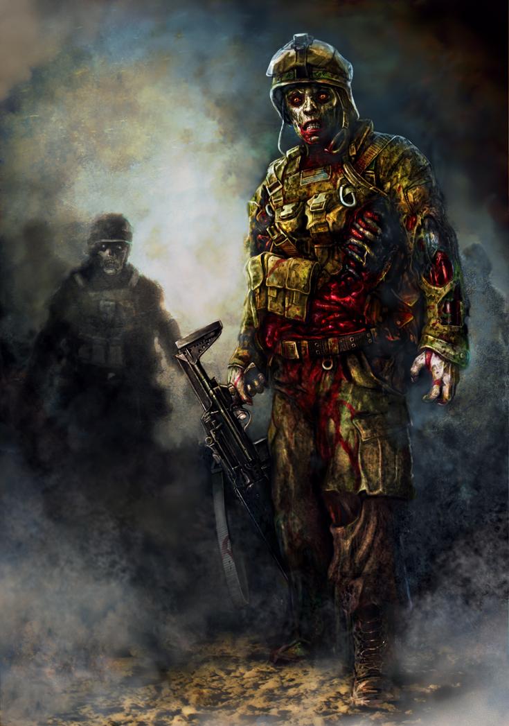Les diffèrents types de zombies Zombie_marines_by_dominikbroniek-d5r5wsx