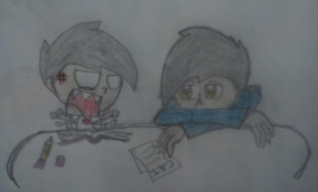 Let's study you lazy brother! by sonicydannyphantom