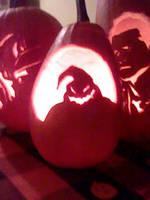 Oogie Boogie Halloween Pumpkin 2014 by yuffb