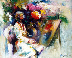 painter woman by GeoRamzes