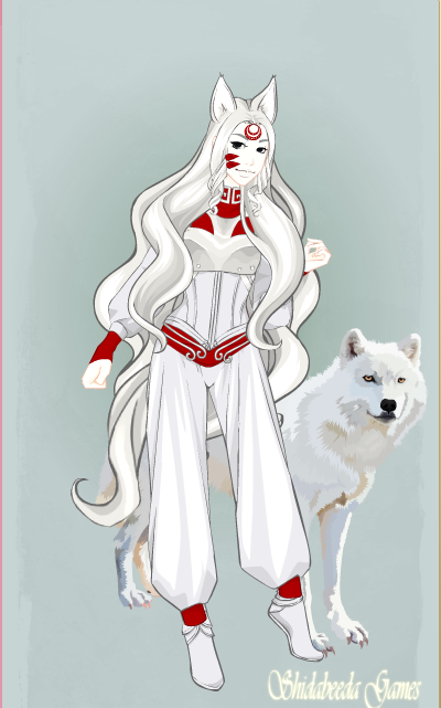 amaterasu of okami as a human version 3 by