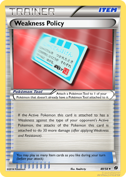 Weakness Policy 49 54 By Realarity On Deviantart If a pokémon holding a weakness policy is hit by a supereffective move, the pokémon's attack and sp. weakness policy 49 54 by realarity on