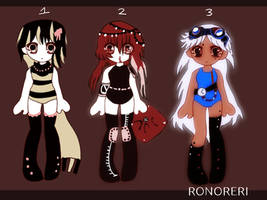 (OPEN!) - $5 ADOPTABLES by RONORERI