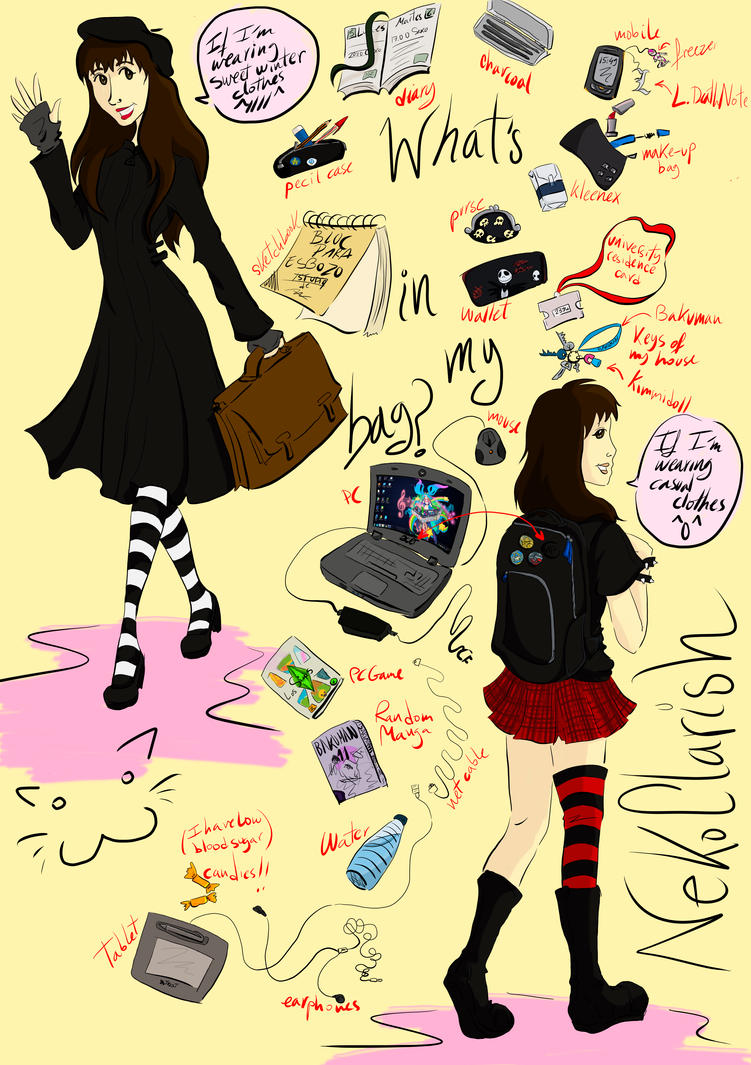 What's in my bag Meme by NekoCLaRish ...