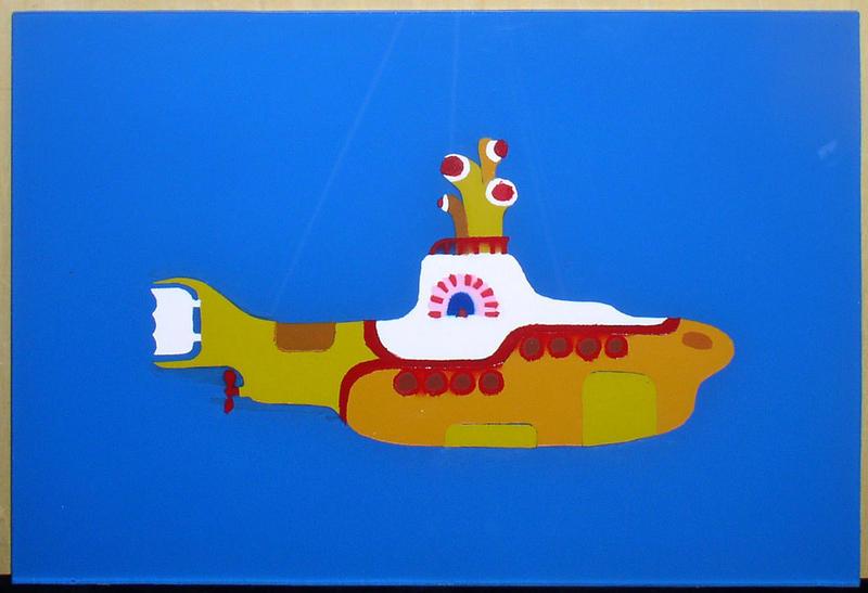 Yellow Submarine Stencil by jamespetersonYellow Submarine Stencil