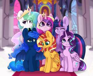 The Alicorns of Equestria Portrait (commission)